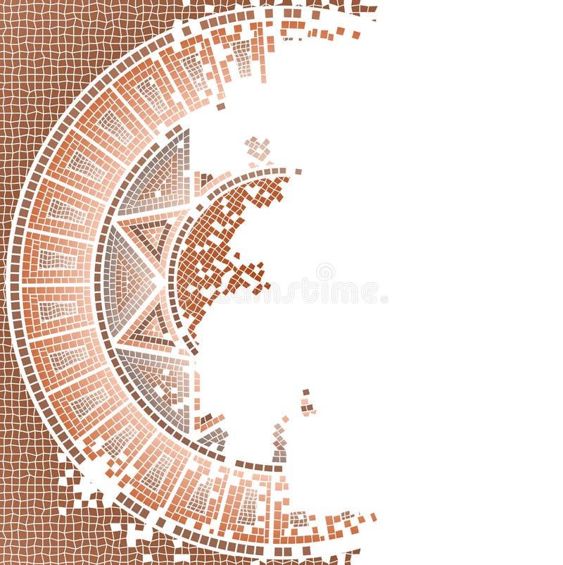 Antique old mosaic royalty free illustration