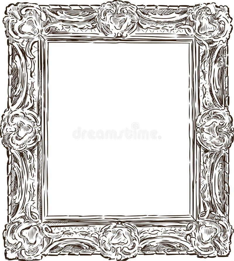Antique ornate frame stock vector. Illustration of visual - 35490193