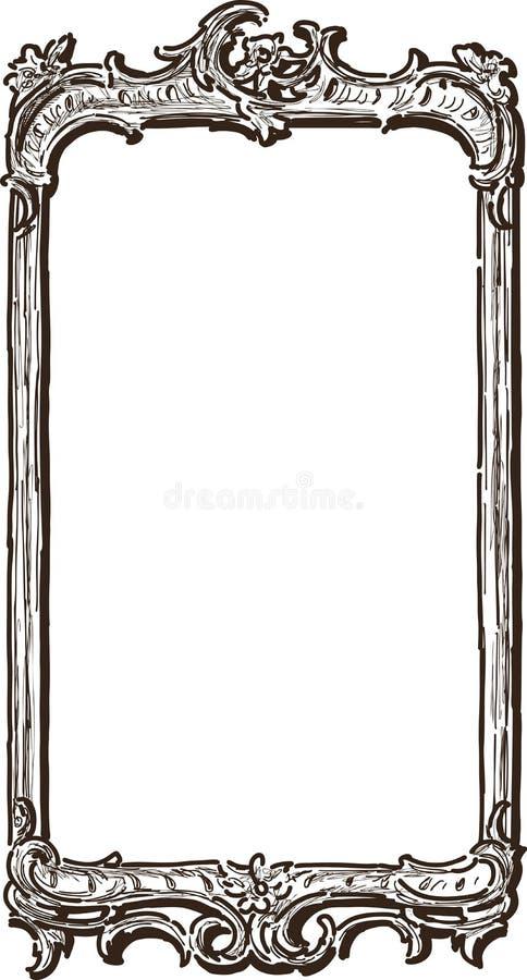 antique ornate frame stock vector illustration of vintage 39728528