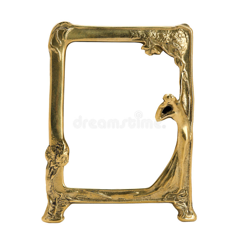 Download Antique Ornate Frame With White Background. Stock Image - Image: 23477579