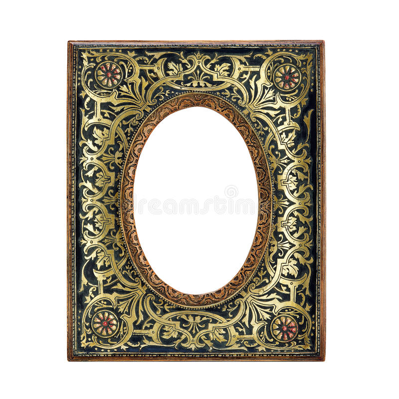 Download Antique Ornate Frame With White Background. Royalty Free Stock Photos - Image: 23477638