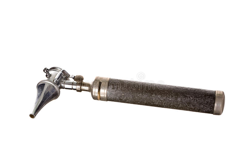 Antique otoscope medical instrument stock photos