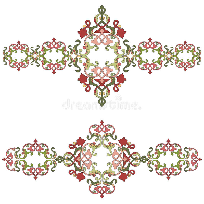 Antique Ottoman borders and frames series fifty three. Borders and frames are designed with Ottoman motifs royalty free illustration