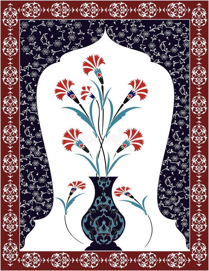 Antique ottoman bouquet design vector illustration