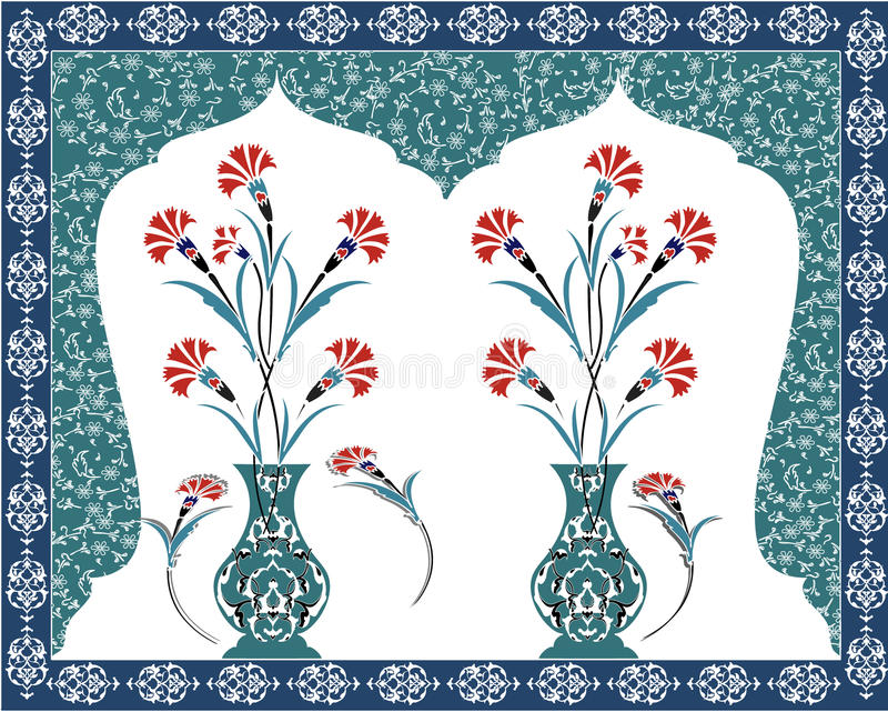 Antique ottoman bouquet design royalty free stock photography