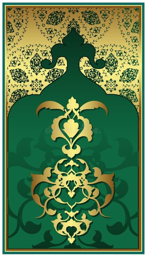 Antique ottoman gold design vector illustration