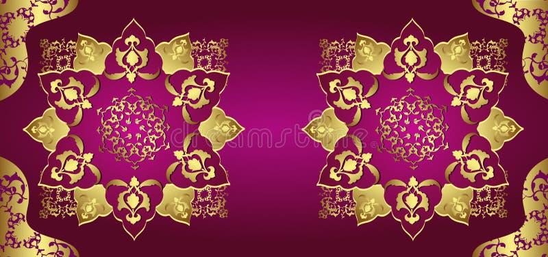 Antique ottoman gold design stock illustration