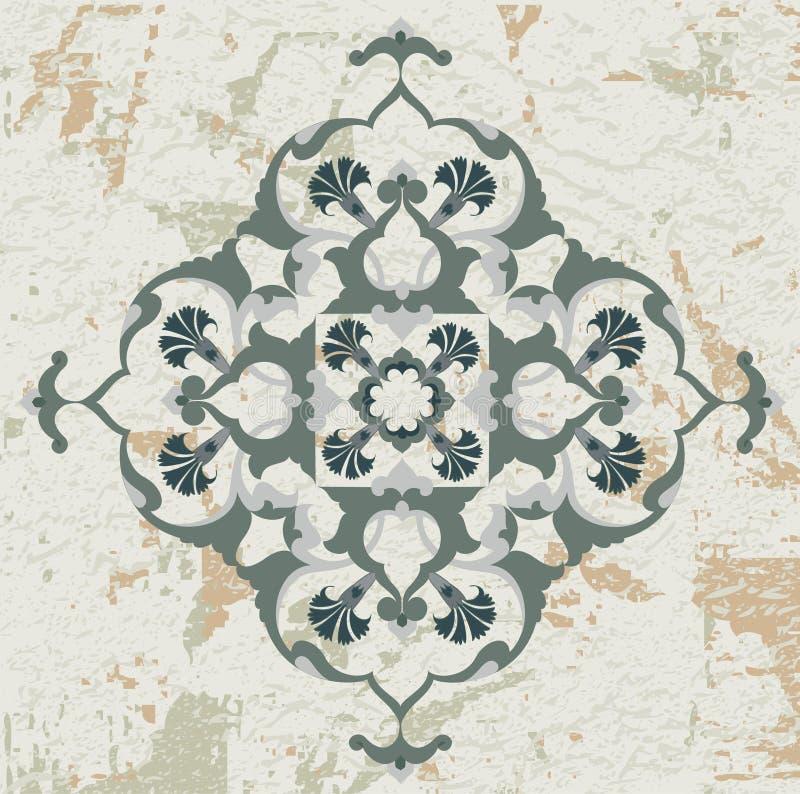 Download Antique Ottoman Grungy Wallpaper Raster Design Stock Vector - Image: 9651641