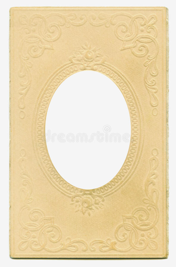 Antique Oval Frame royalty free stock photo