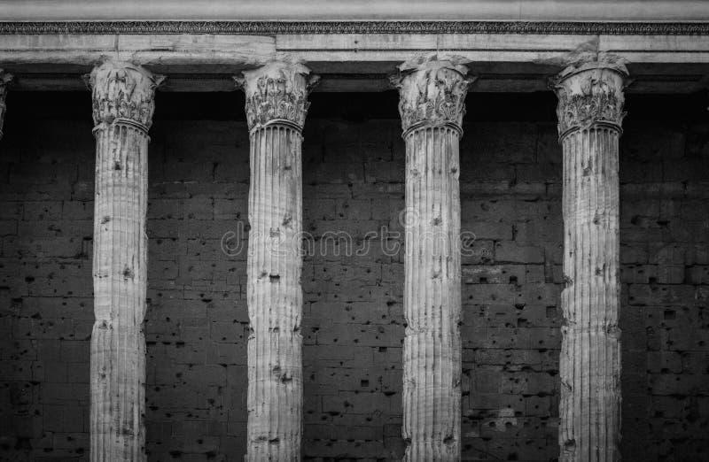 Temple Of Hadrian Rome stock photo
