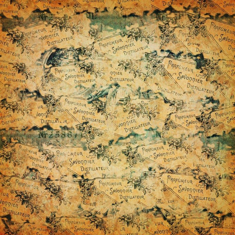 Antique paper with ephemera stock image