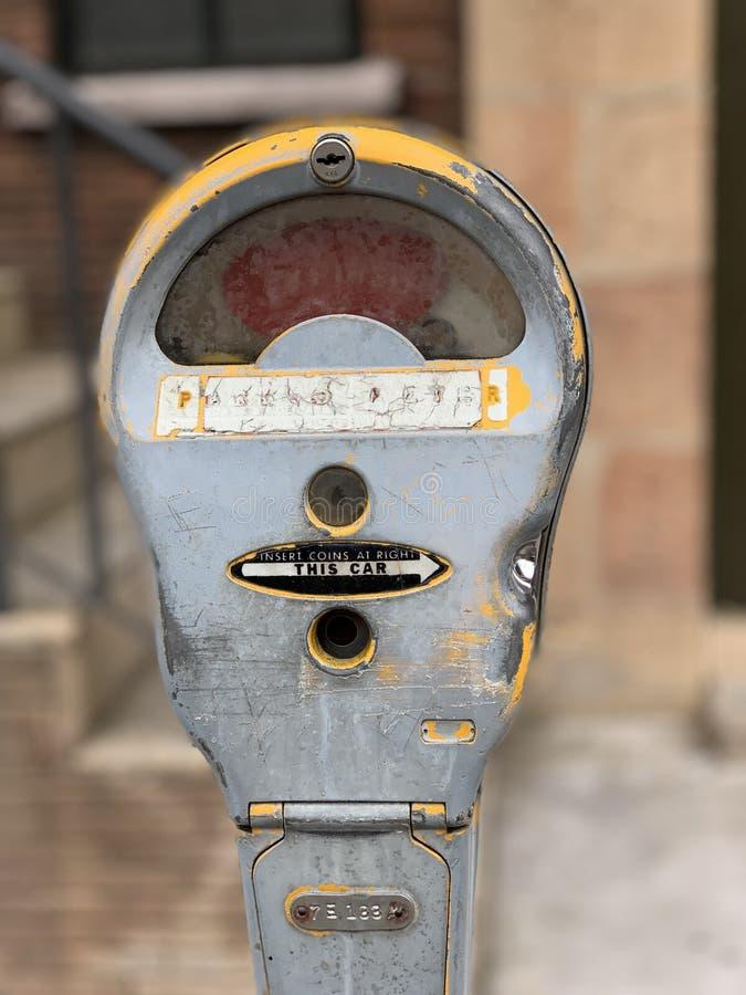 Antique parking meter stock image