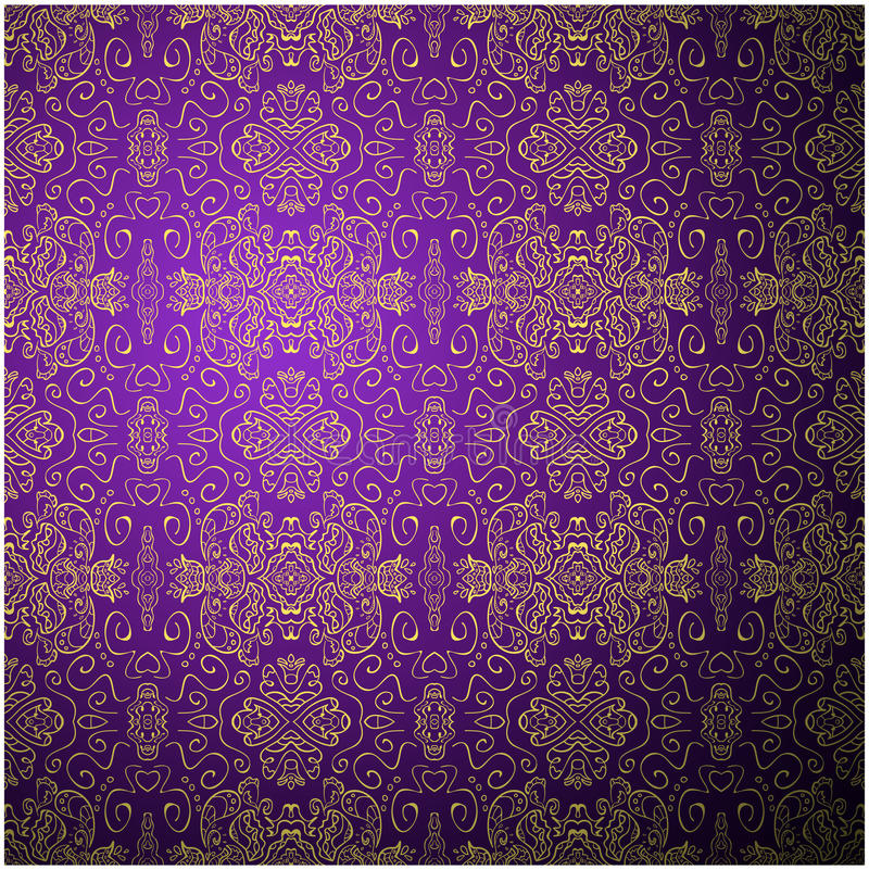 Vector Illustration Web Designs: Antique Pattern Background. Purple Seamless Stock Vector