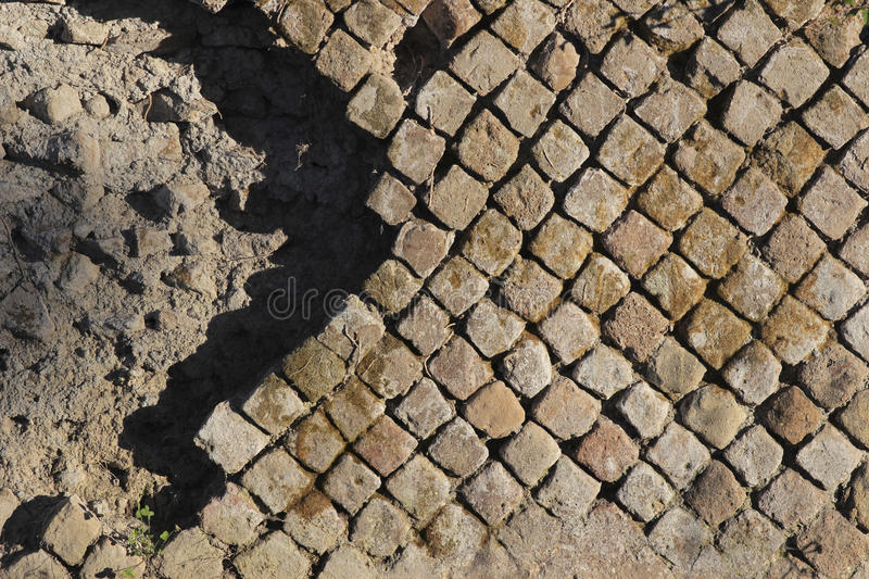 Antique pavement royalty free stock image
