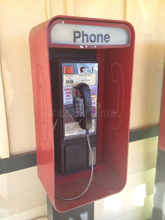 Antique Pay Phone stock photos