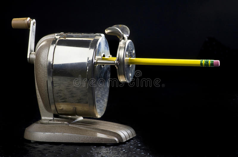 Antique Pencil Sharpener. Boston Champion pencil sharpener made in the 1950's royalty free stock photos