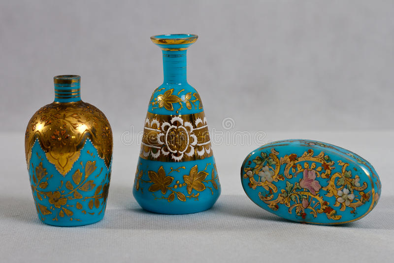 Antique perfume bottle - 1890 royalty free stock photo
