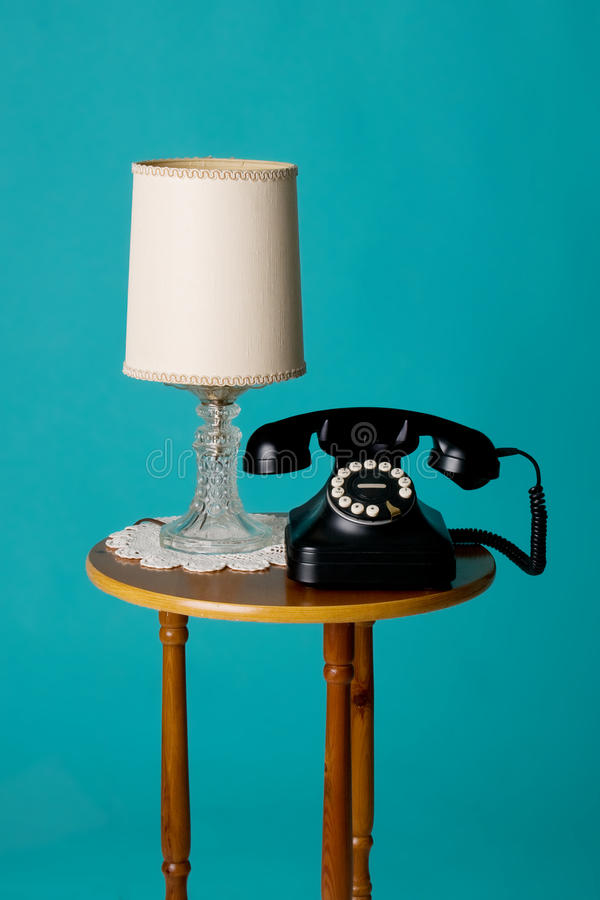 Download Antique phone on table stock photo. Image of contact - 17175976