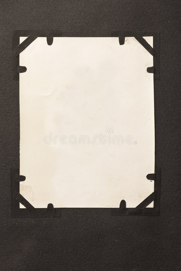 Antique photo blank with corners background stock photos