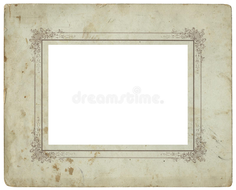 Download Antique photo frame 2 stock photo. Image of blank, grungy - 33945584