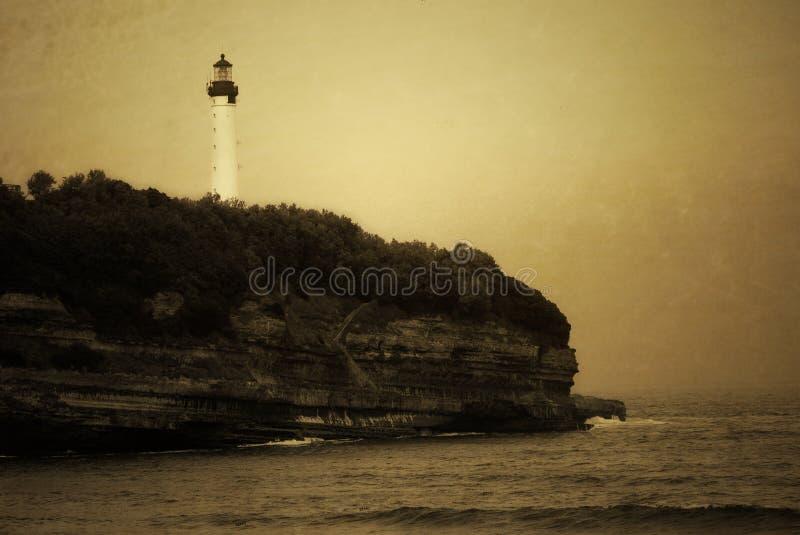 Antique photo of lighthouse royalty free stock image