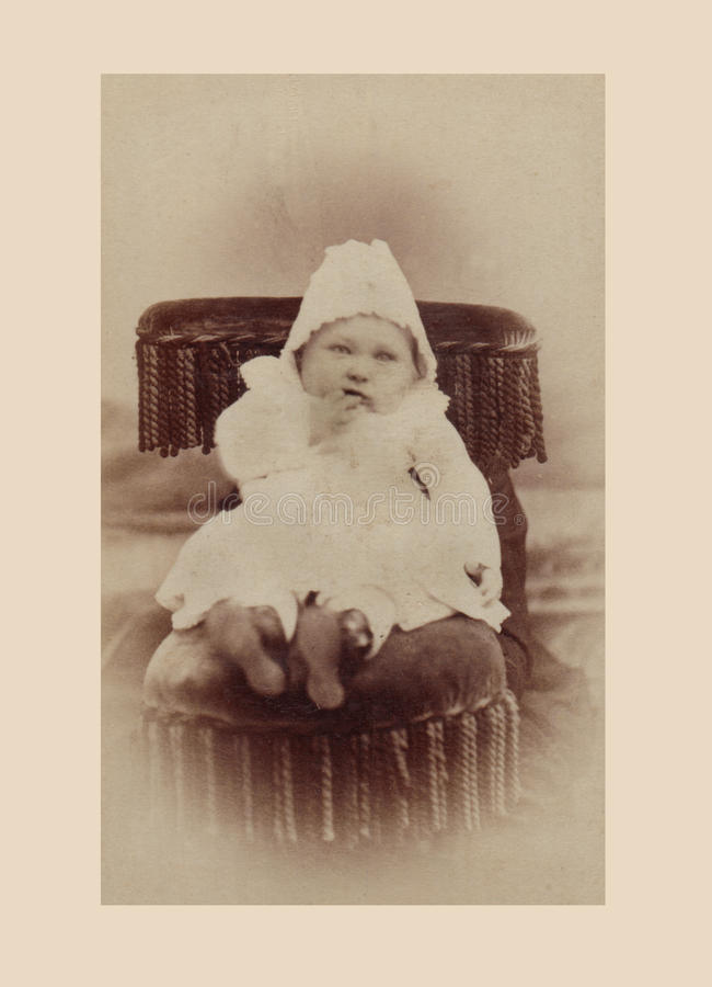 Download Antique Photograph Of Baby Boy Stock Photo - Image: 22786642
