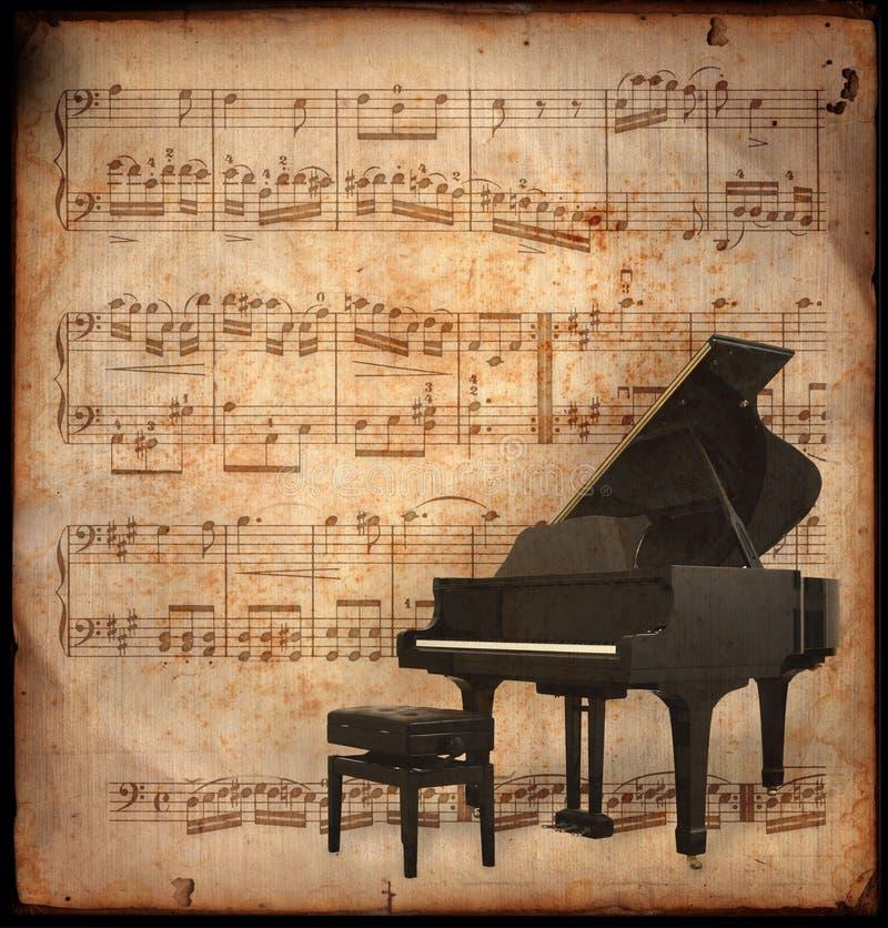 Antique piano stock images