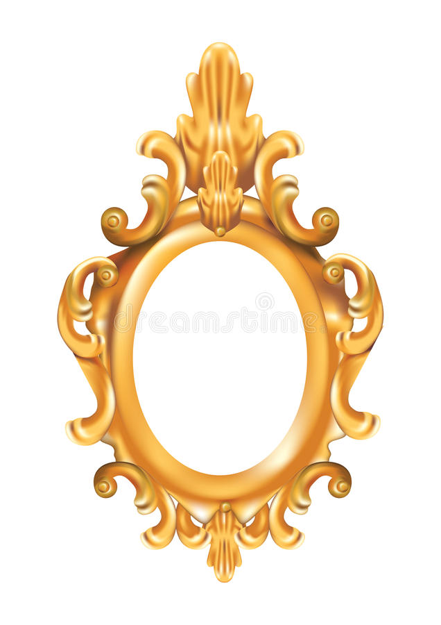 Download Antique Picture Frame stock vector. Image of image, curlicue - 13040167