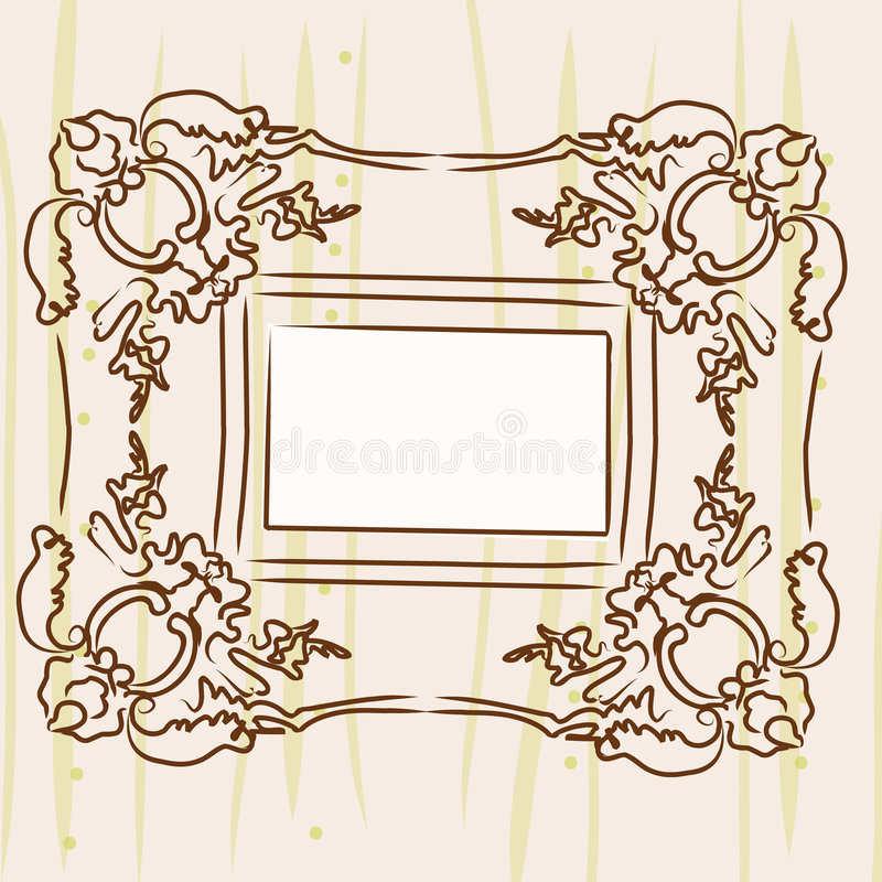 Antique Picture Frame Stock Image