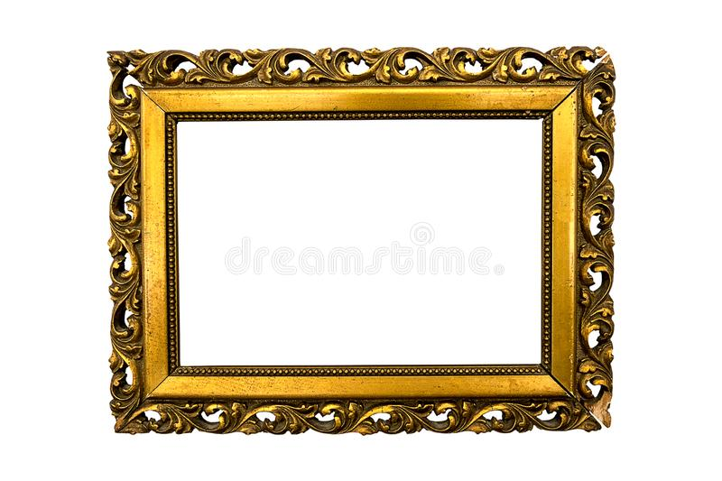 .antique picture frame gilded baroque royalty free stock photos
