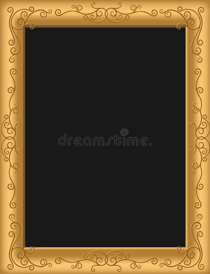 Antique Picture Frame Stock Vector