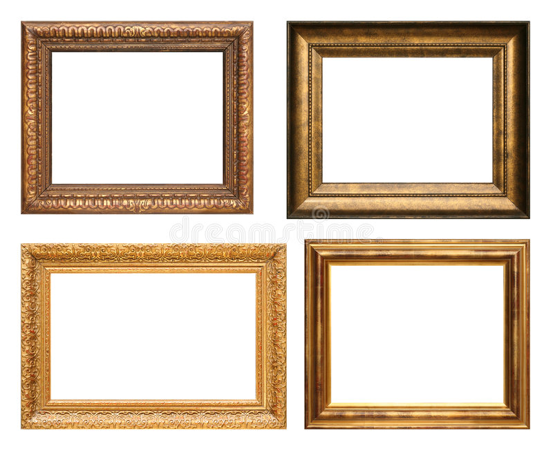 Download Antique picture frames stock photo. Image of four, blank - 5392662