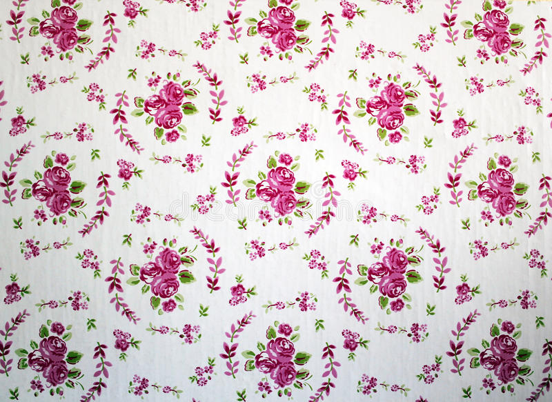 Antique pink and red shabby chic rose repeat pattern wallpaper royalty free stock photos