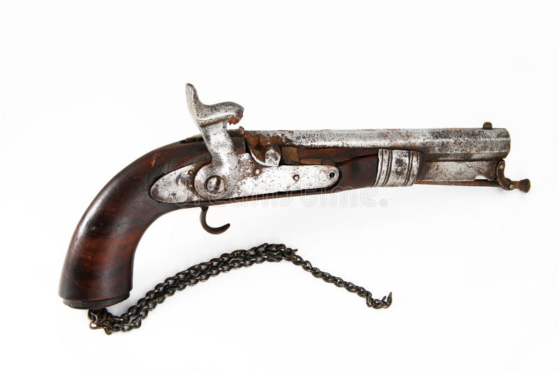 Antique pistol stock photo