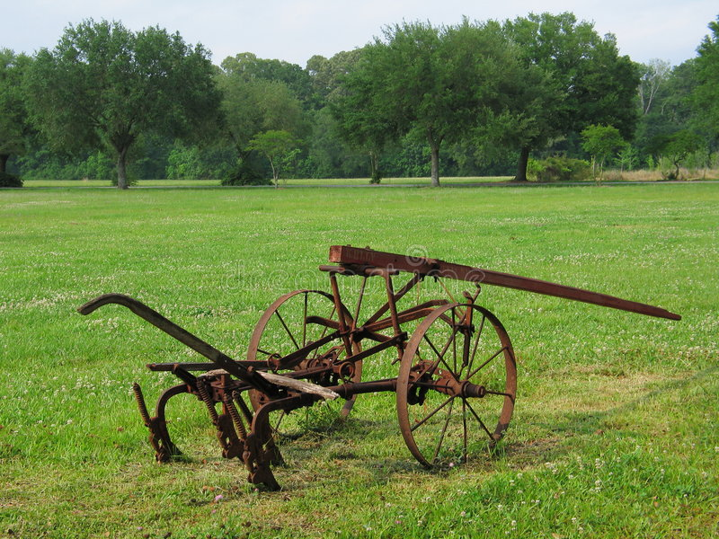 Antique Plow. Antique horse drawn plow from the 1800s stock photography