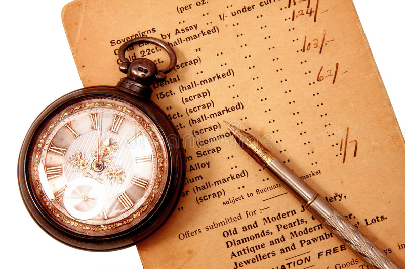 Antique pocket watch royalty free stock images