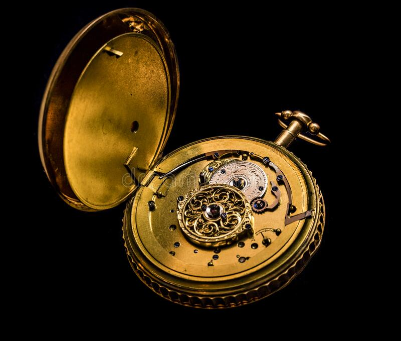 Antique pocket watch stock image