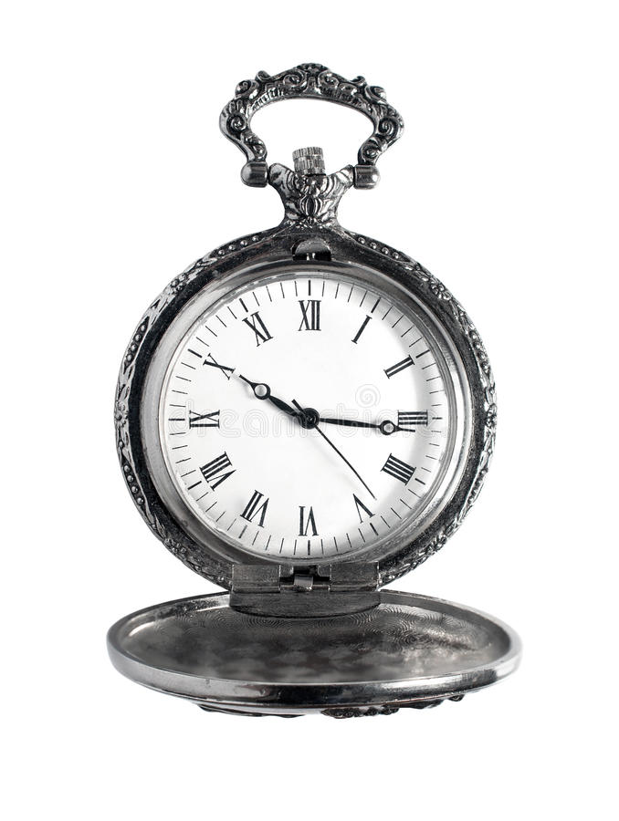 Antique pocket watch royalty free stock photography