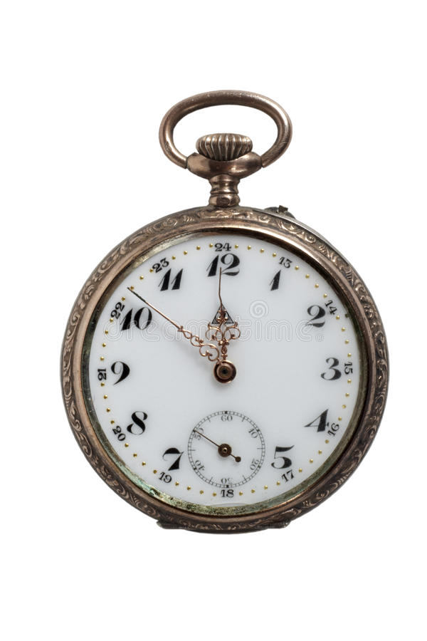 Download Antique Pocket Watch, Isolated On White Stock Image - Image: 9867089