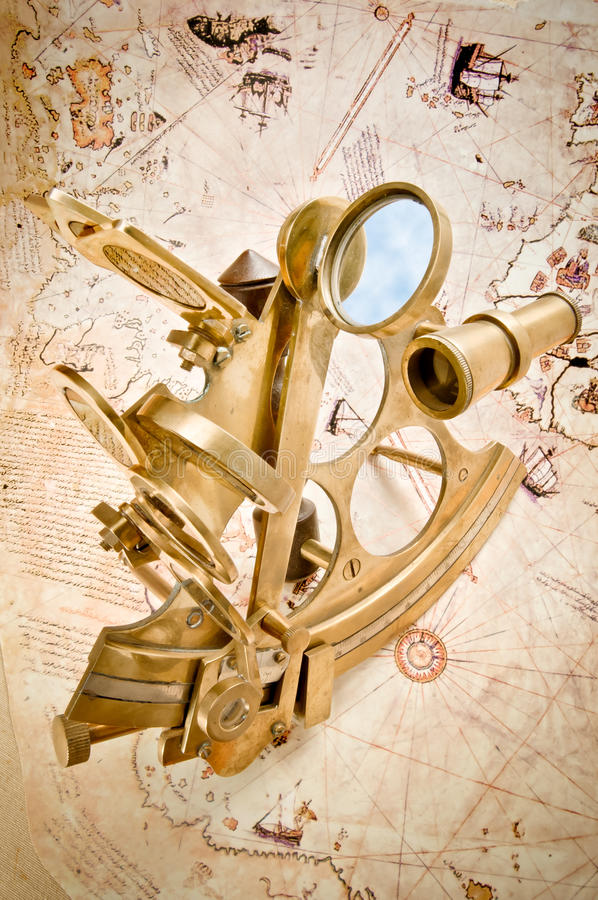 Download Antique Polished Brass Sextant Stock Image - Image: 21589405