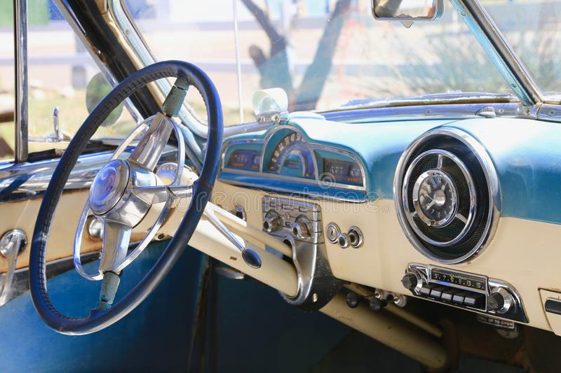Antique Pontiac Interior royalty free stock photo