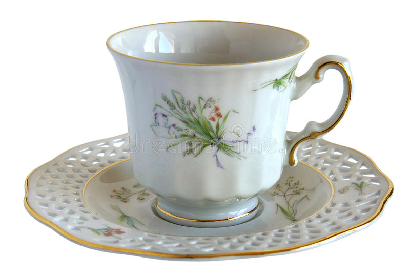 Download Antique Porcelain Cup And Saucer Stock Photo - Image: 83700900