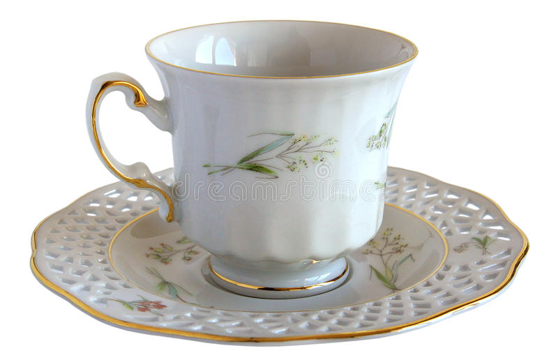 Download Antique Porcelain Cup And Saucer Stock Photo - Image: 83701355