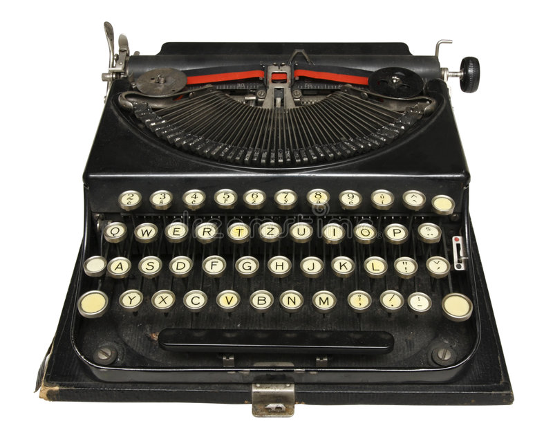 Antique portable typewriter. With Central European char set royalty free stock images