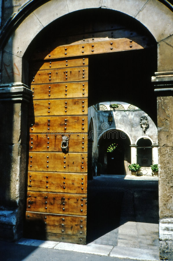 Antique portal stock photo