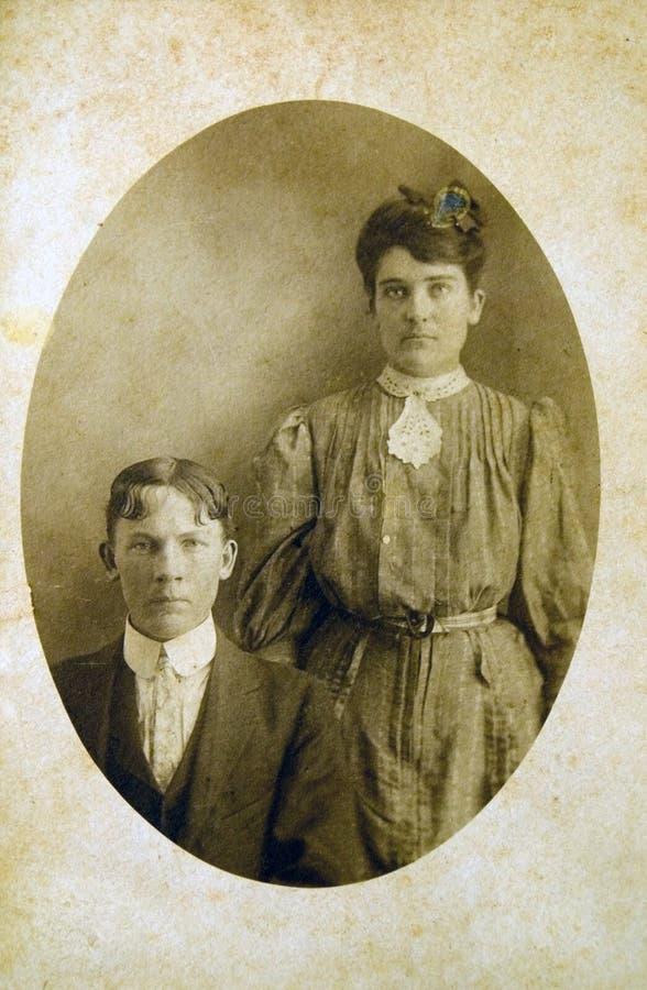 Download Antique Portrait/ Sepia stock photo. Image of ancestors - 5870336