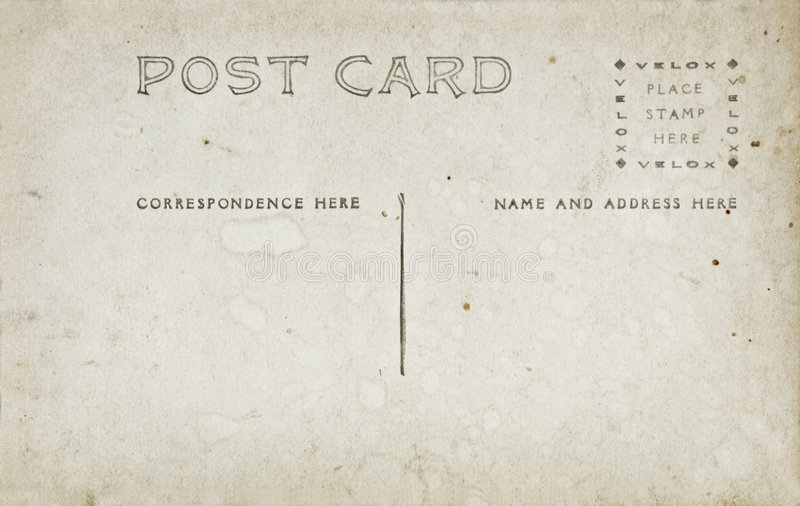Download Antique Post Card stock image. Image of beige, space, faded - 6953467