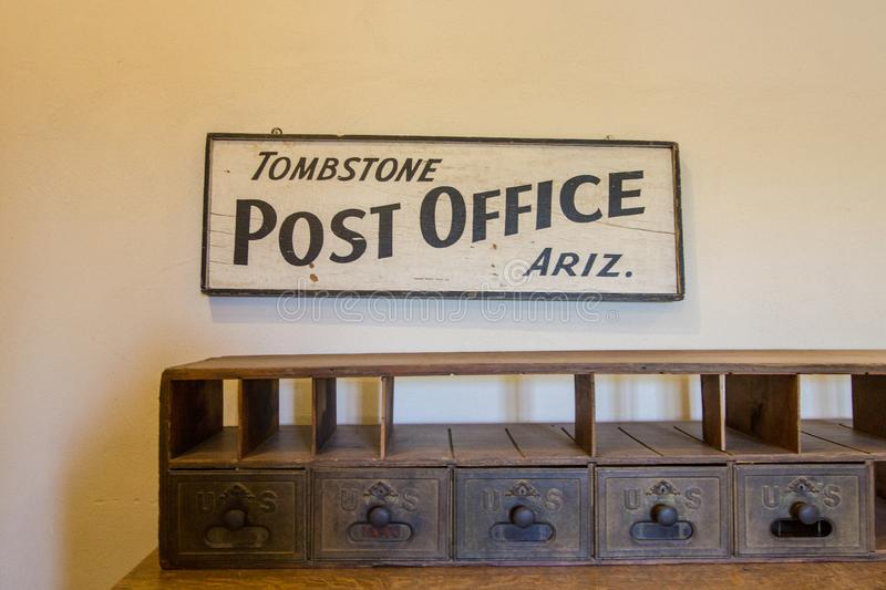 Tombstone Arizona Port Office Box stock photos