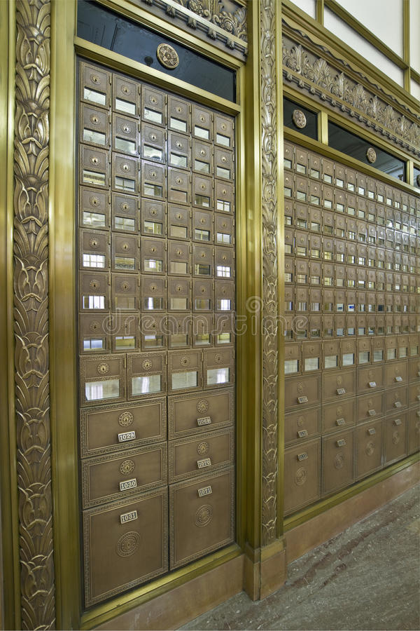 Download Antique Post Office Boxes 4 Stock Photo - Image: 13594220