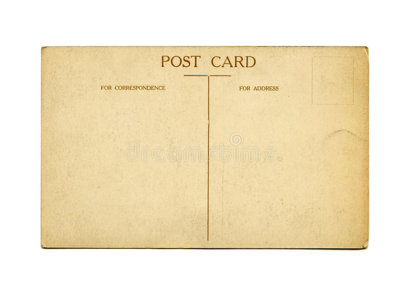 Download Antique postcard stock image. Image of torn, faded, card - 14851489